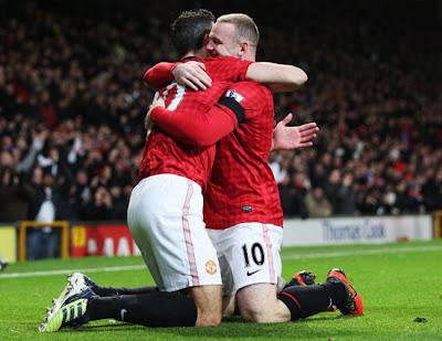Van Persie+Wayne Rooney+Manchester+United+Manchester+City