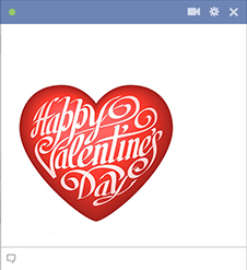 Valentine's Day Heart Sticker