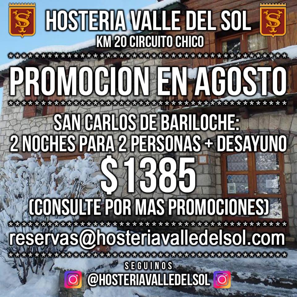 Promo de Agosto en Bariloche!