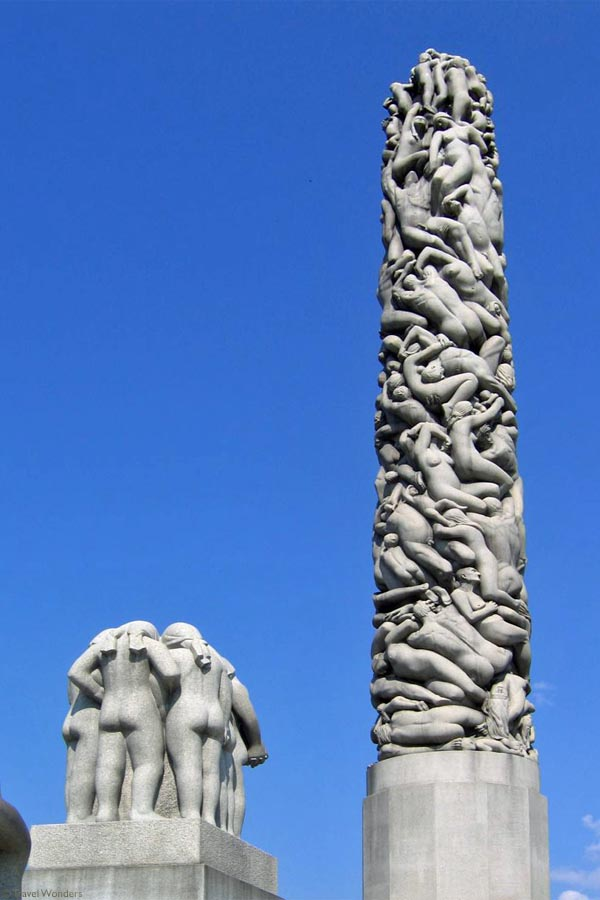 Vigeland Sculpture Park A Study Of Humanity Oslo Norway