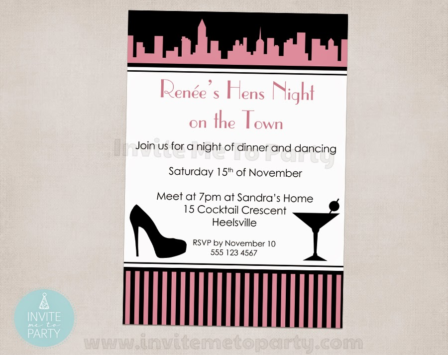 Invite Me To Party: Bachelorette Party Invitation / Hens Night ...