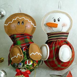 Decoração boneco de neve para o natal