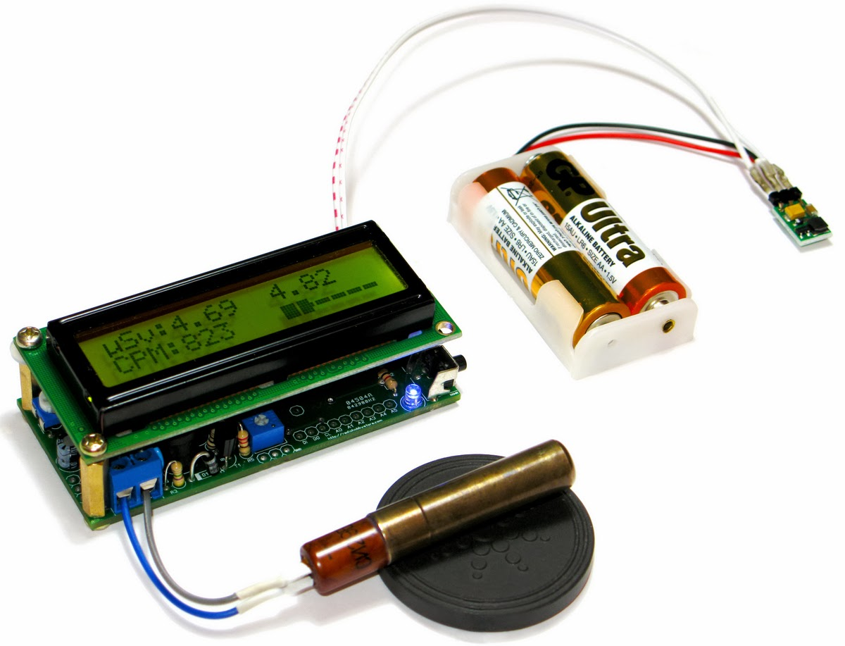 Diy electronics arduino ide geiger counter kit with