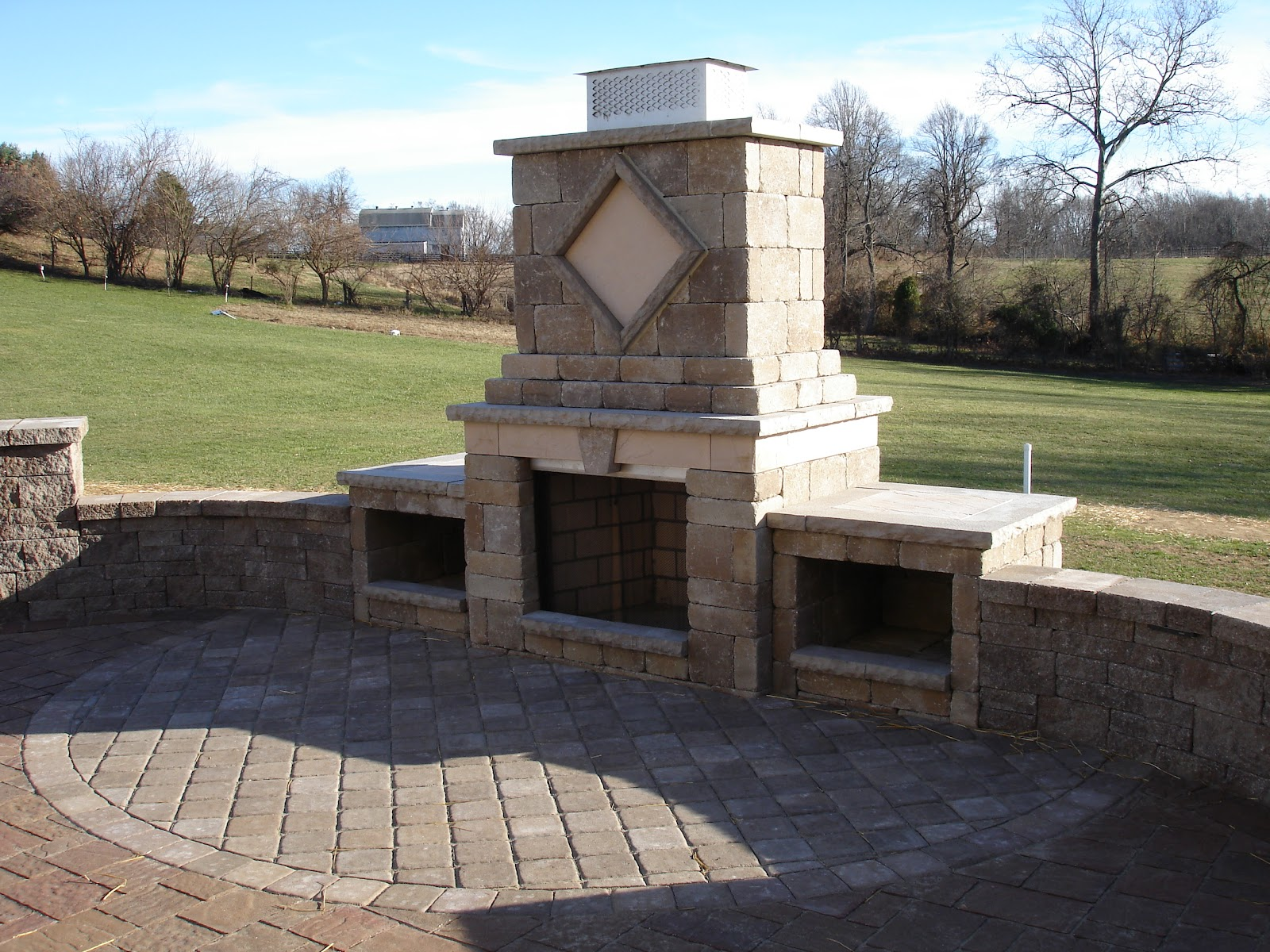 paver patio designs with fireplace Life Time Pavers: Paver Patio Walls Steps & Fireplace