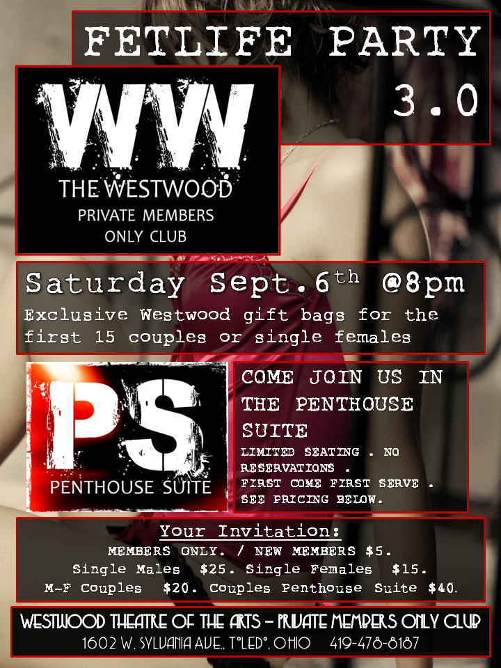 Next Westwood Private Memebers Only Club Party in Toledo, OH