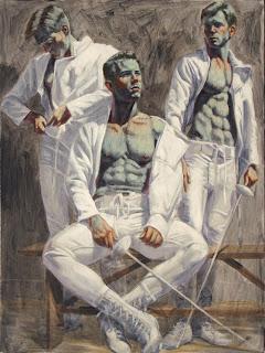 Three+Fencers+n.d.Oil+on+canvas40+x+30+i