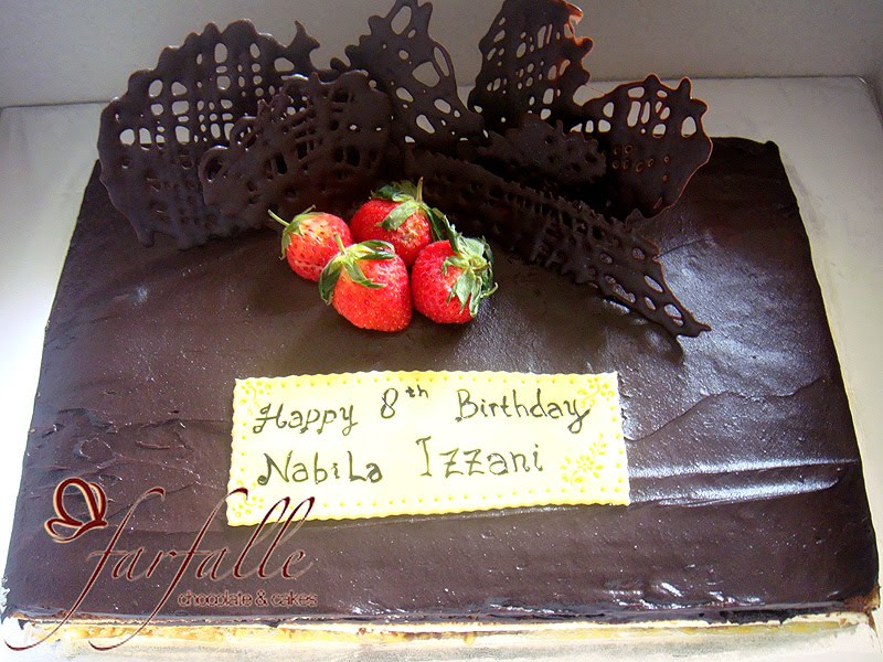 Farfalle Chocolate Cakes Opera Birthday cake