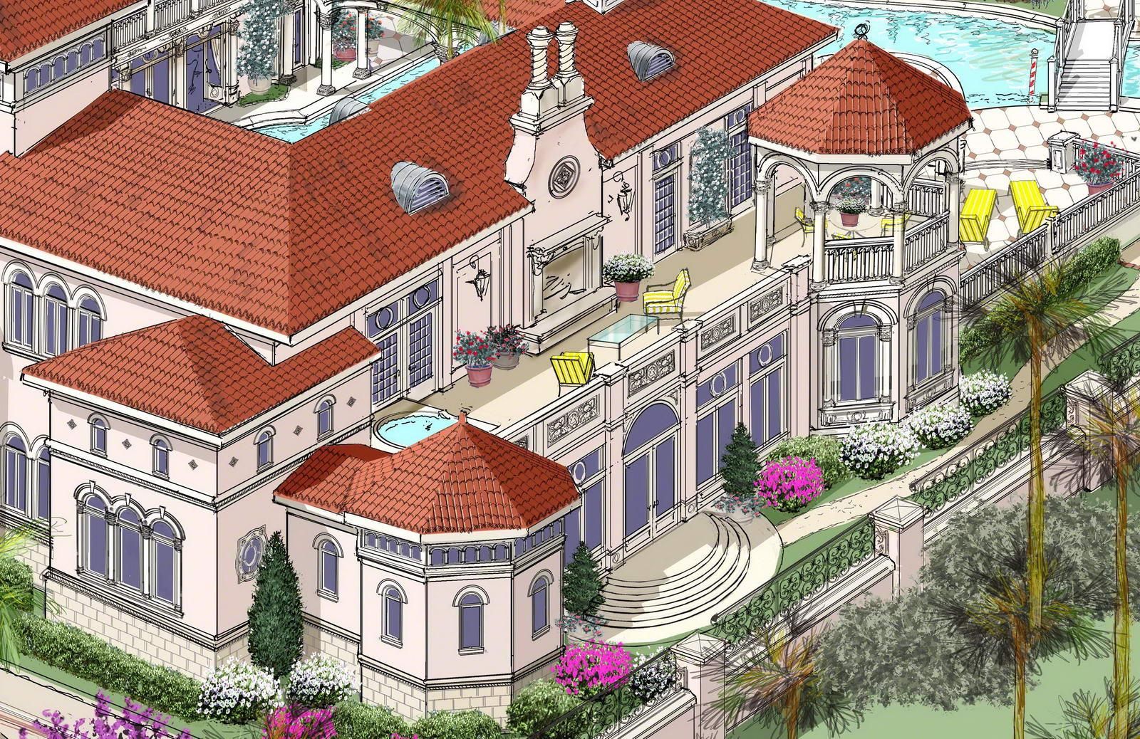 Eileen 39 s home design villa designed for a mediterranean for Mediterranean villa design