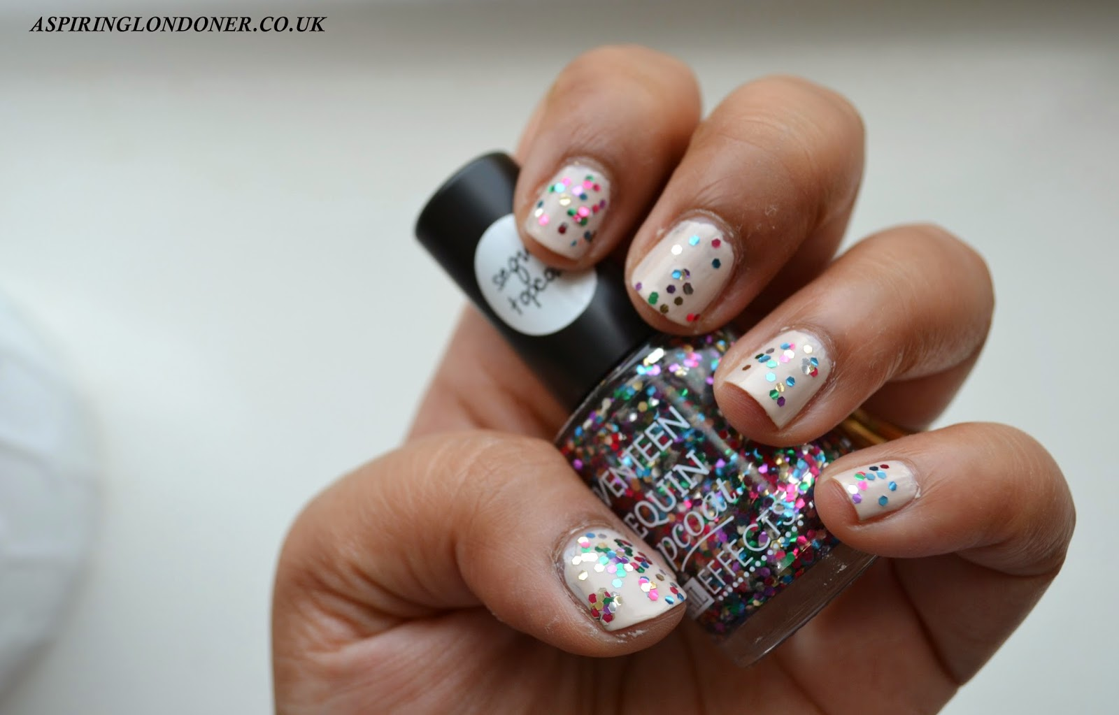 Seventeen Nail Effects Sequin Top Coat Limited Edition - Aspiring Londoner