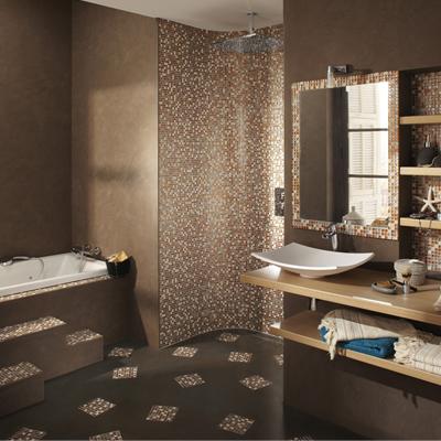 La salle de bain lignes d co - Carrelage rose salle de bain ...