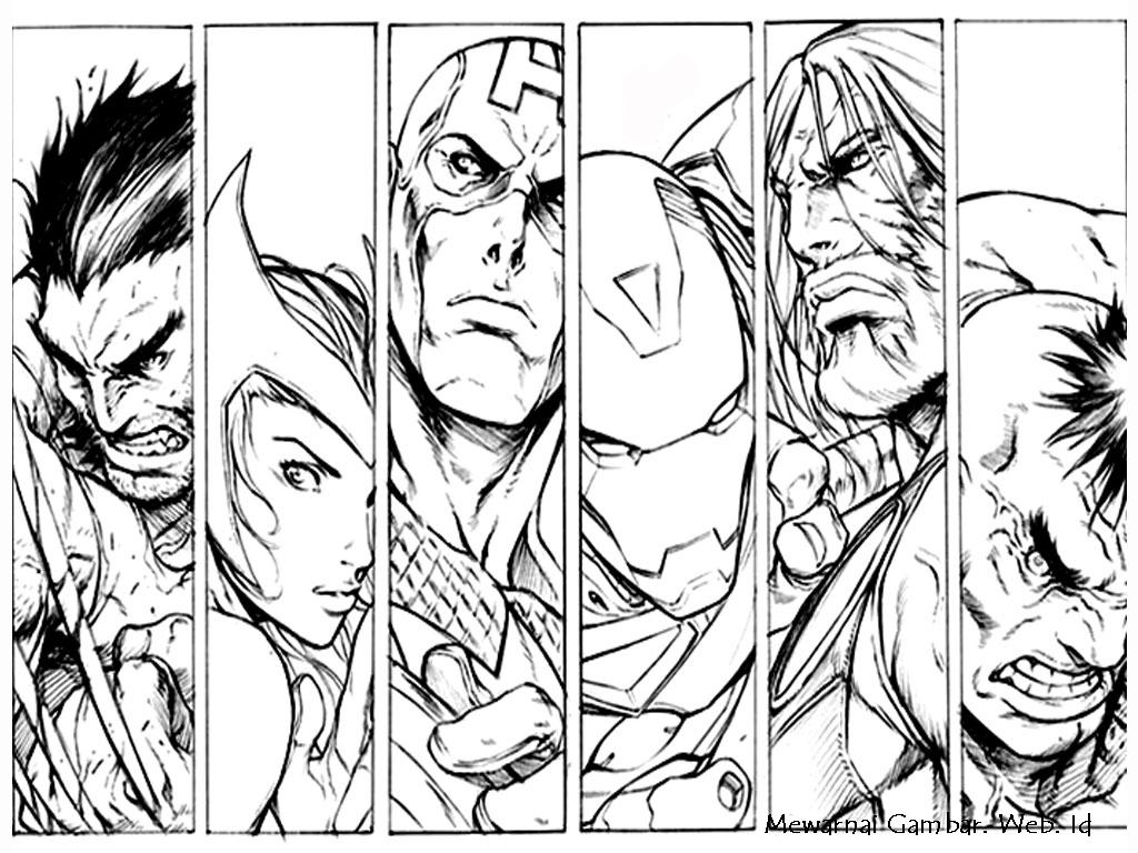 gambar tokoh karakter the avenger untuk diwarnai jpg gambar tokoh