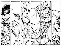 Gambar Tokoh Karakter The Avenger Untuk Diwarnai
