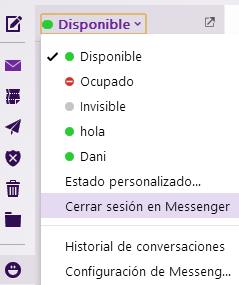 estado y configuracion messenger