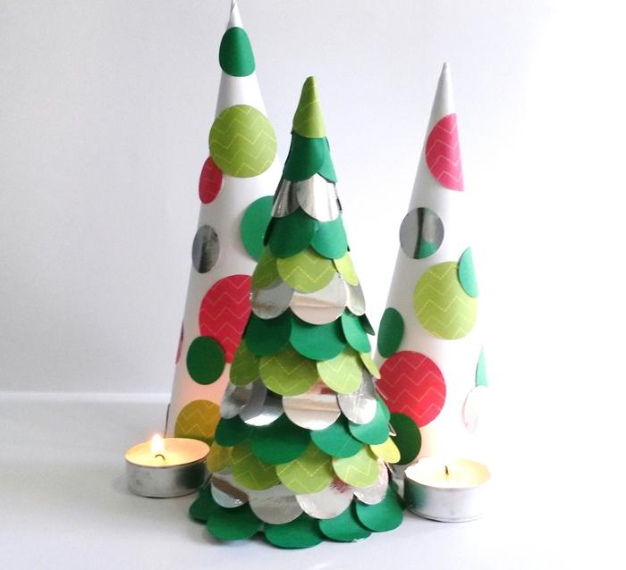 C mo hacer un rbol de navidad de papel handbox craft - Como hacer un arbol de papel grande ...