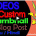 How to Add Video in Blog Post with Custom Thumbnail