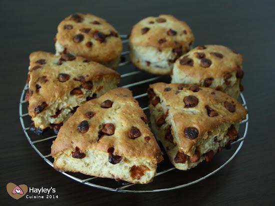 Cinnamon chip scones - Kanelihippuskonssit