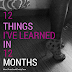 12 Things I've Learned in 12 Months