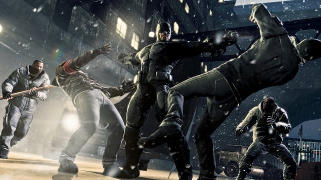 Batman fighting with enemies in Arkham Origins