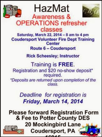 3-14 Hazmat Refresher Classes