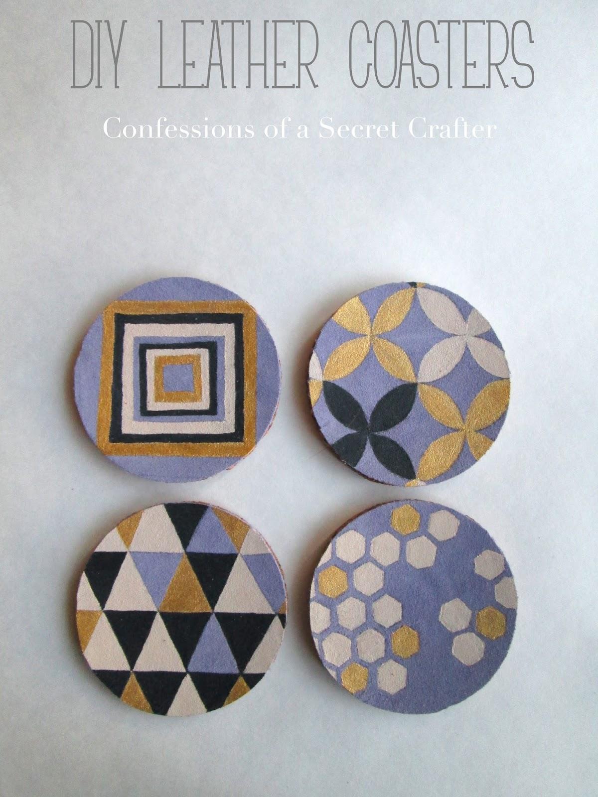 DIY Leather Coaster