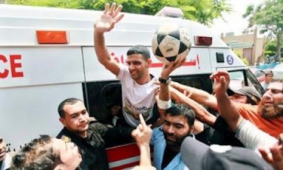 mahmoud sarsak calciatore palestina liberato