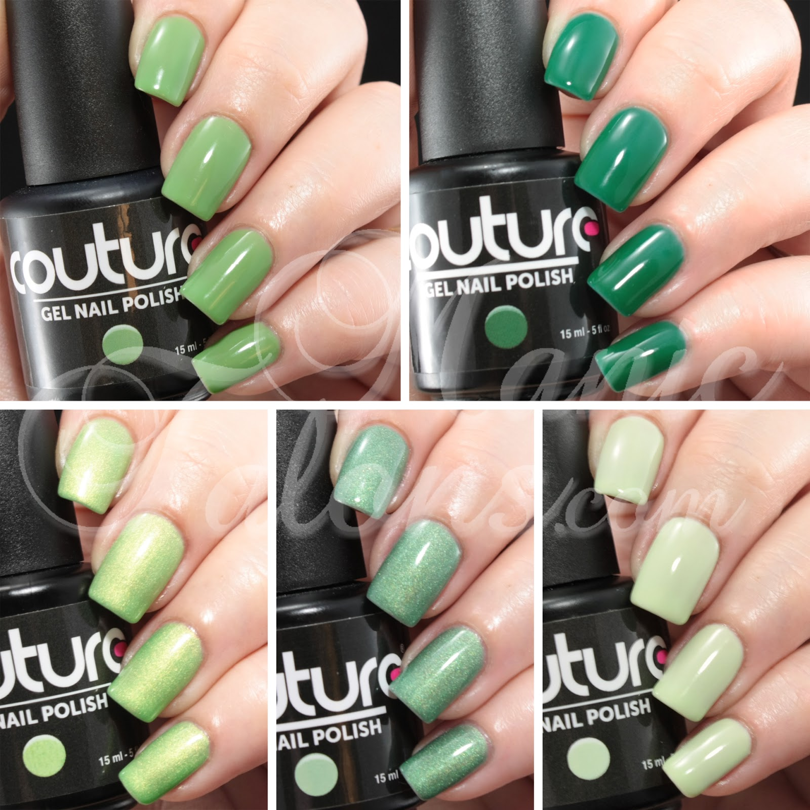 Green Soak Off Gel Polish By Couture Gel Nail Polish