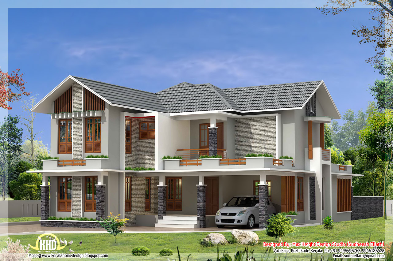 Luxury Contemporary House Sq Yards Kerala Home Design