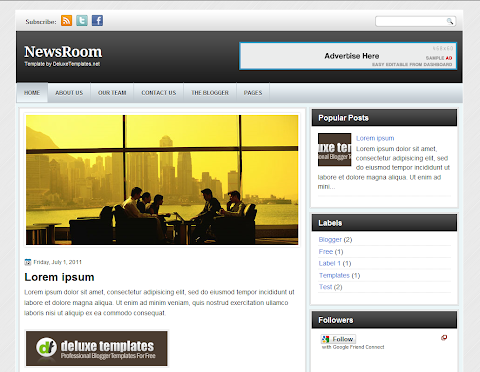 NewsRoom Blogger Theme