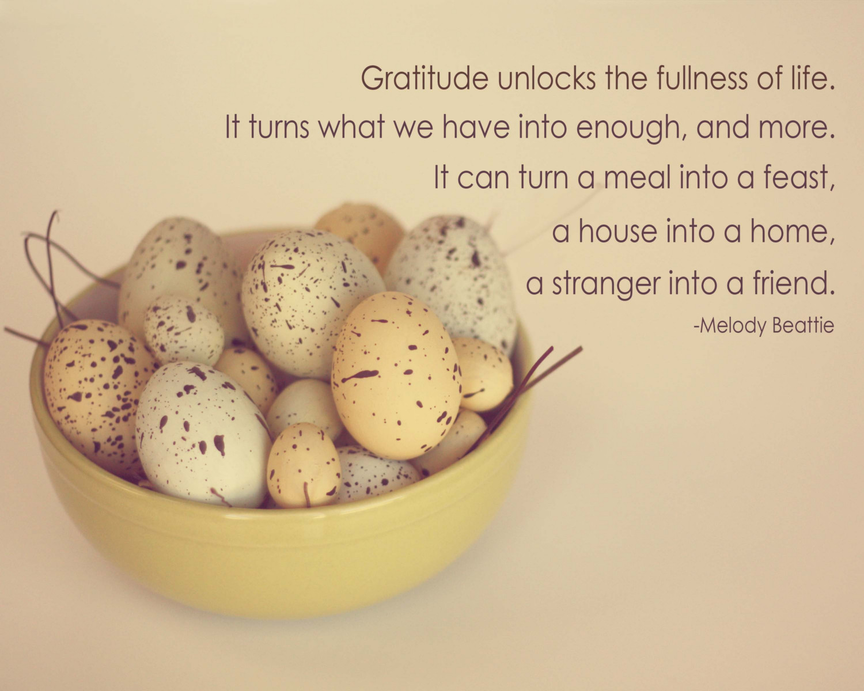 An Attitude of Gratitude ..