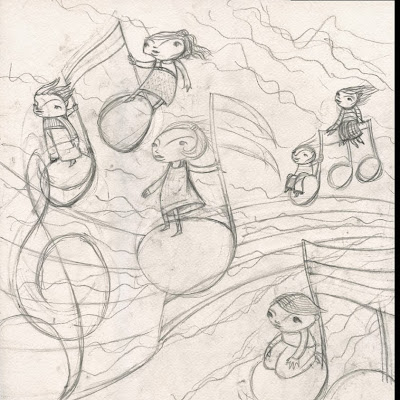 Alberto Poucelle ilustrador illustration music música kids hand gothic vintage