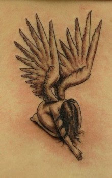 TATTOO TATUAJE ANGEL DE LA GUARDIA