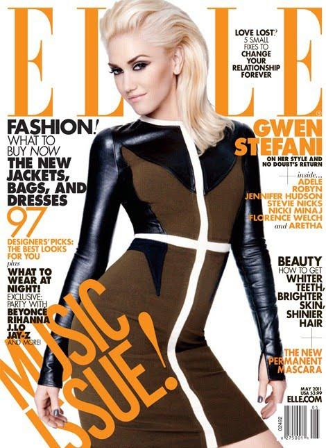 gwen stefani elle magazine 2011. Gwen Stefani stands with
