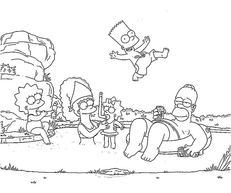 printable-simpsons-actions-coloring-pages