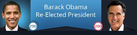 Barack Obama re-elected