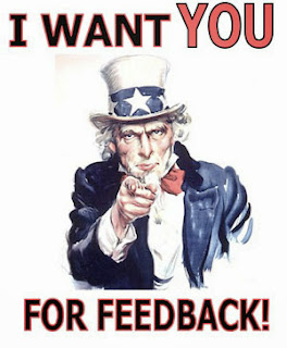 Uncle Sam asking for feedback