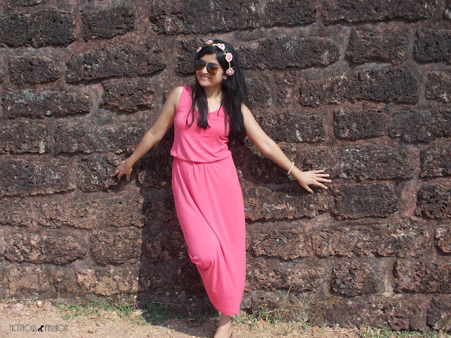 Fictitious Fashion Pink Maxi Dress
