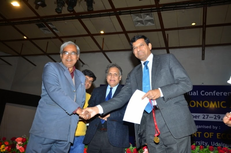 Received Gold medal from Dr.Rajan-Governor of RBI,2014