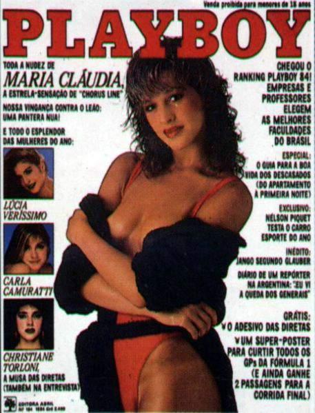 Maria Cláudia - Fotos Playboy 1984