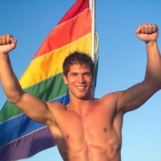 Young Jock's Hairy Armpits Rainbow Flag