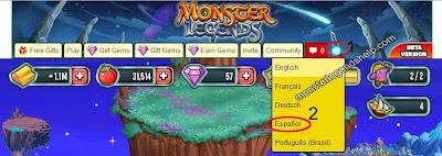 imagen de como poner en español monster legends