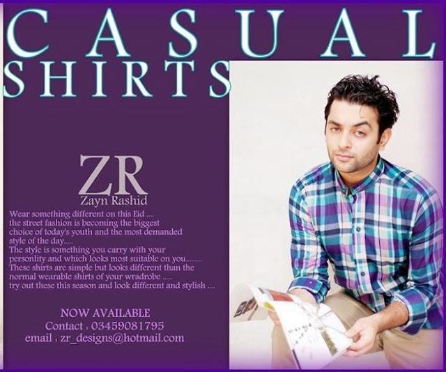 Zayan Rashid Casual Shirts collection 2013