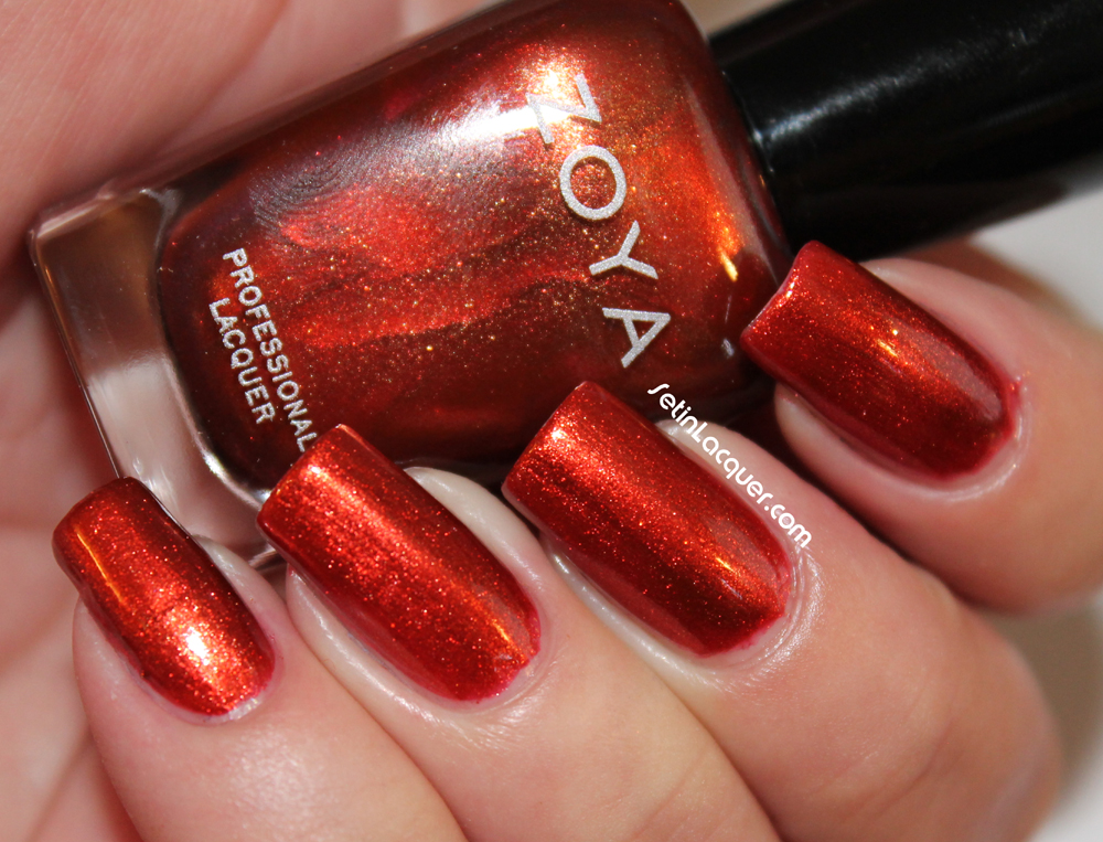 Zoya Fall 2013 Satins Collection swatches and review - Set in Lacquer