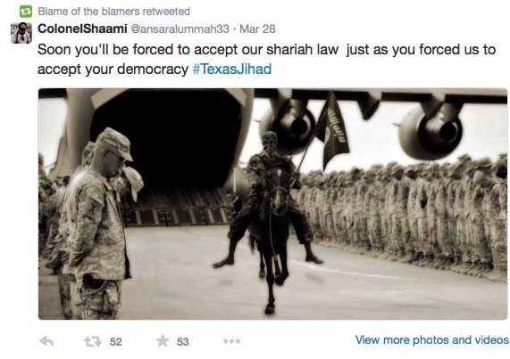 http://www.independentsentinel.com/isis-threatens-to-conquer-texas-on-twitter/?utm_content=buffercf7e4&utm_medium=social&utm_source=twitter.com&utm_campaign=buffer