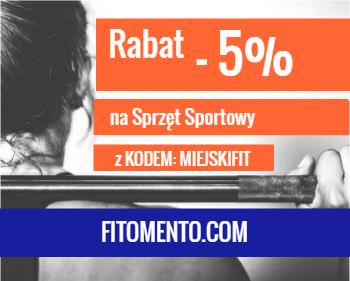 ZNIŻKI/PROMOCJE/KUPOWY - na sprzęt sportowy Z Miejskim Fitnessem!