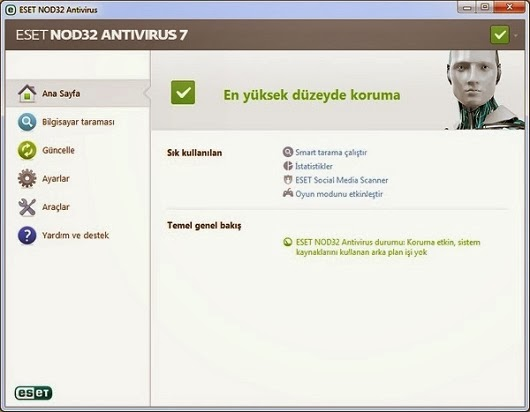 Nod32 Antivirus v7.0.302 T�rk�e Full
