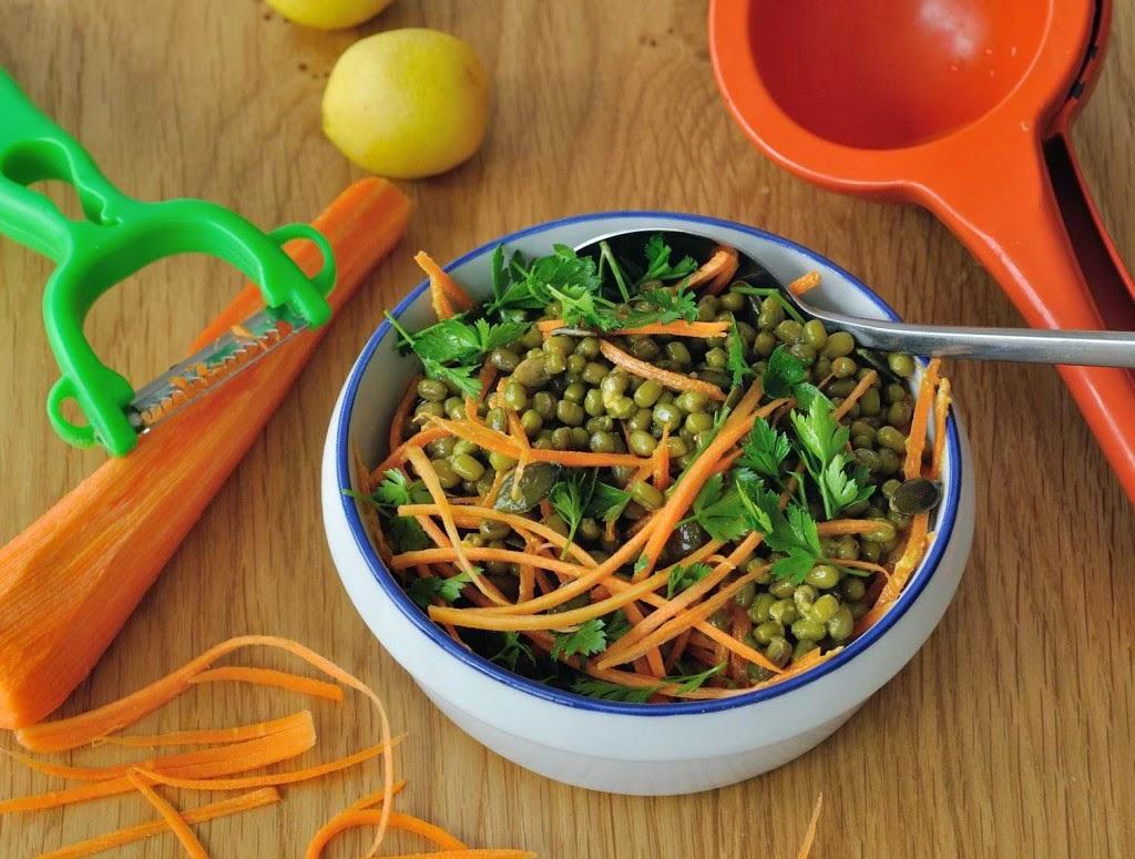Steamed Mung Beans Salad