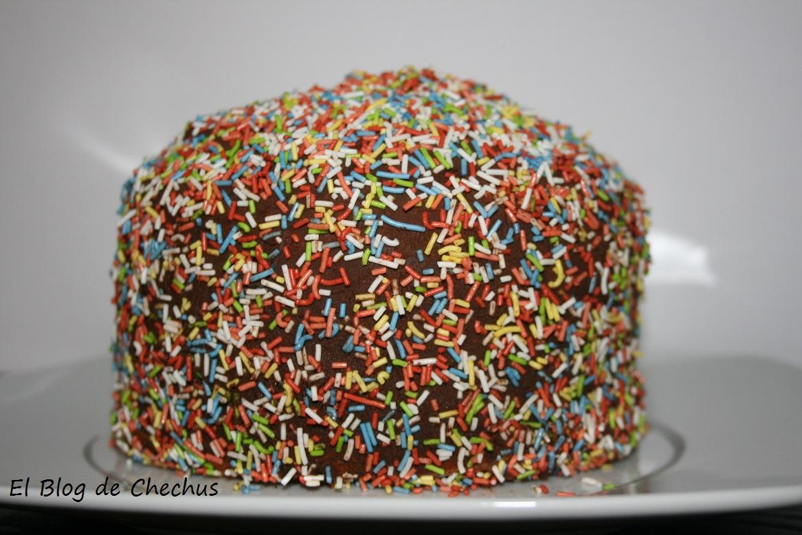 Tarta bombón, el blog de chechus, chechus cupcakes