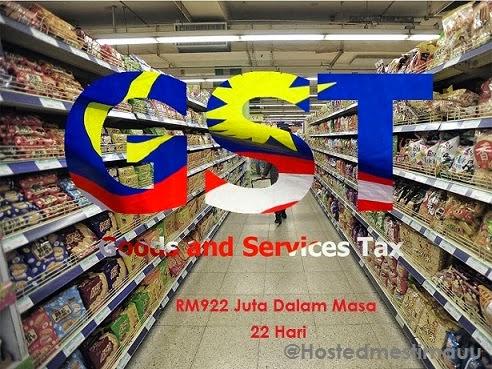 Kerajaan kutip GST RM922 juta dalam 22 hari