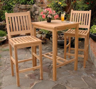 teak garden furniture kursi bar
