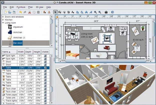 Download sweet home 3d 4 6 free interior design software